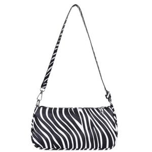 Women's Small Bag Zebra Shoulder Wristlet Clutch